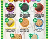2018 LBB Girl Scout Cookie Price List GS Booth Menu 8.5 x 11 Printable 2 Versions Cookies 5.00 & 6.00