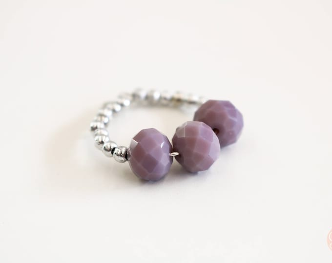 Wine Glass Marker/ Wine Glass Charm in Opaque Purple.
