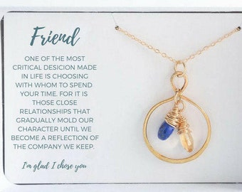 Best Friend Birthday Gift - Custom Friendship Necklace - Gold Friend Necklace - Custom Best Friend Necklace - Custom Girlfriend Gift