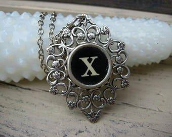 Typewriter Key Jewelry Letter X