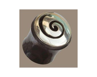 Silver and Horn Plugs, Ear plugs, Ear Gauges, Tribal jewellery, Organic plugs and tunnels, Tapers, Ear stretchers, Tribu