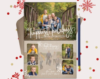 Happiest Holidays Rustic Christmas Cards · Many Bright Blessings in the New Year · 7 photos