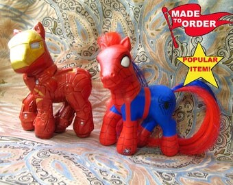 Custom My Little Pony MADE TO ORDER, ooak cm mlp Figure Hand-Painted and Rehaired to Your Specifications, Ponies Fantasy Customized Toys