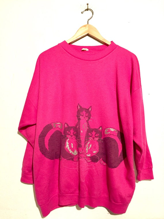 Double Sided Cat Sweatshirt