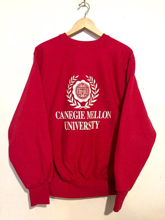 80s Vintage Carnegie Mellon University Double Knit Sweatshirt