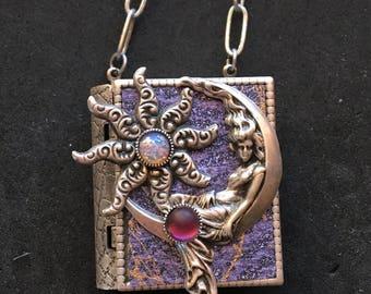Moon Goddess-Miniature Book Necklace