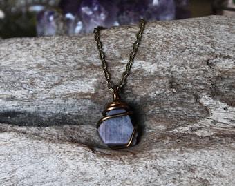 Raw Ruby Necklace - Rough Stone Necklace - Wire Wrapped Raw Stone Jewelry - Natural Ruby Jewelry - Bohemian Jewelry - Gypsy Boho Necklace
