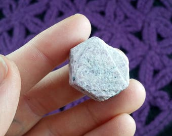 Record Keeper Ruby Raw Hexagonal Crystal Hexagon Stones Crystals Rough Triangles 21 grams