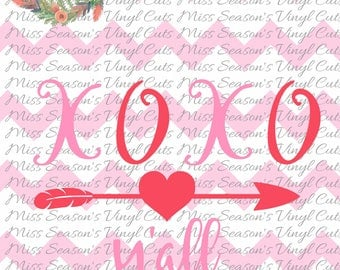 XOXO Y'all  SVG | Heart Svg | Valentines Day DXF, Eps, Png, Digital Cut | Instant Download |  Personal & Commercial Use | Stencil
