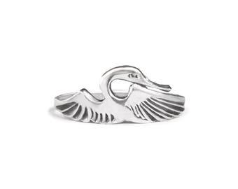Heron Sterling Silver Ring