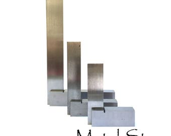 """Perfect Right Angle Steel 2"""", 3"""" or 6"""" Size Squares for exact right angle scribe or markings"""