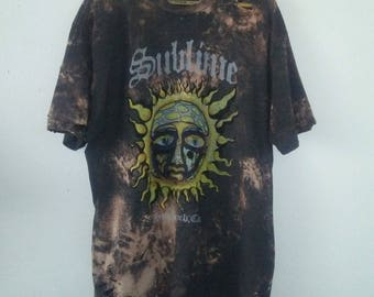 Sublime TShirt / Band Tee / Distressed / Graphic TShirt / Sun Face / Indie / Grunge / Rocker Tee / Music Festival / Unisex / Women / Men