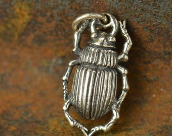 Sterling Silver Beetle Charm
