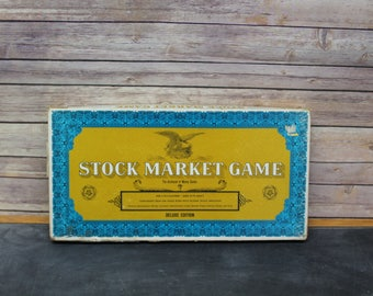 1968 Deluxe Edition Stock Market Game, Western Publishing Company Board Game