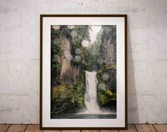 Pacific Northwest Printable, Toketee Falls, Oregon, Waterfall Print, Landscape Photography, Nature Art, Instant Digital Download