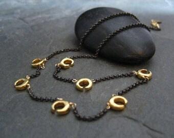 Crescent necklace, lunar pendants, half moon necklace, chain with crescent, arc chain, croissant,  crescent choker