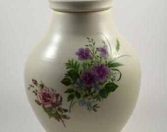 Large Porcelain Jar/ Porcelain Jar with Lid/ Lidded Porcelain Jar/ Urn/ Handmade Urn/ Porcelain Urn/ Memorial Urn