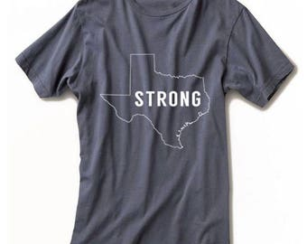 Texas Strong Disaster Relief Shirt / BLOCK version / Texas Strong Shirt / Texas Shirt / Hurricane Relief Fundraising Shirt