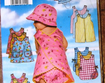 Easy to Sew Infants Romper, Jumper, Panties and Hat Sizes L XL Butterick Pattern 5439 UNCUT