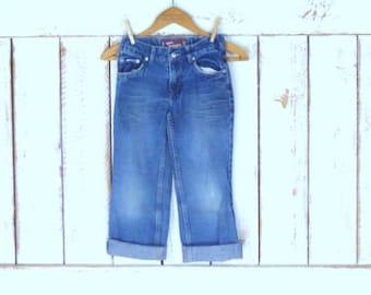 Kids/childrens slim straight leg Levis 514 dark blue denim jeans/Levi Strauss jeans/7 regular