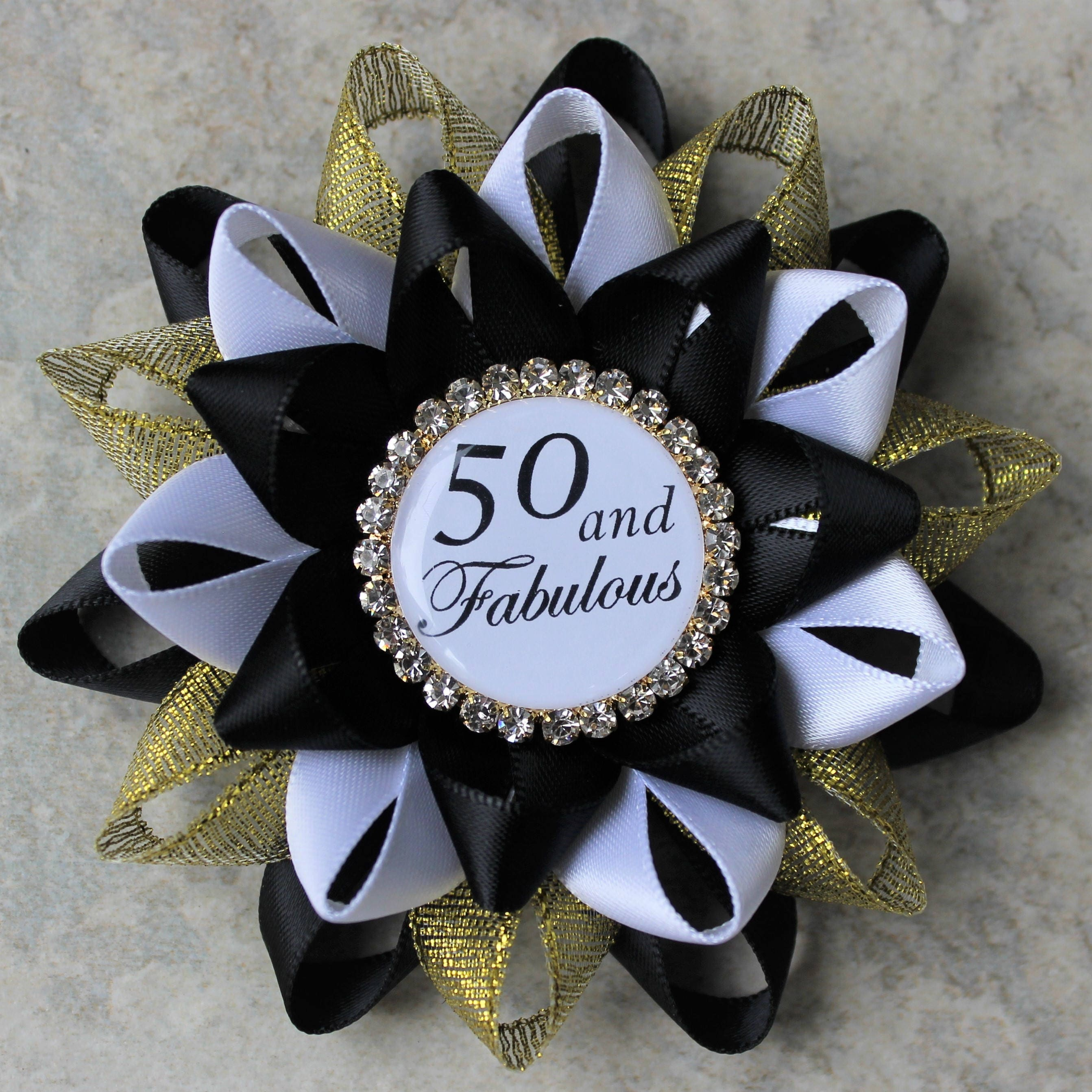 50th birthday pin 50 and fabulous pin 50th birthday for 50th birthday decoration ideas for women