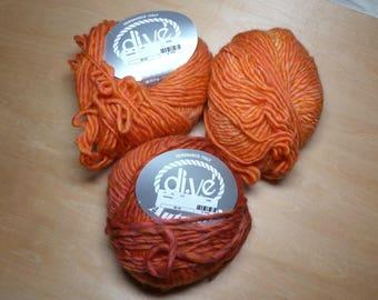 di.Ve Autunno Merino Wool Plied Multicolored Bulky Yarn 3 Skeins Destash