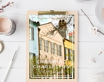 2018 Charleston Desk Calendar - 5x7 Photo Calendar - Photography Calendar - Christmas Gift for Southerner - Stocking Stuffer - Rainbow Row
