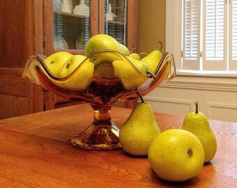 Vintage Mid Century Viking Glass Epic Vase