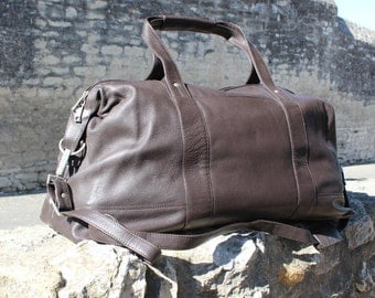 Leather weekender, leather duffle bag, gym bag cabin bag brown leather duffle brown leather weekender ,