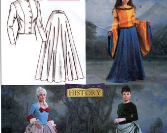 Butterick B4154 Misses' Renaissance Medieval and Victorian Costumes Sewing Pattern - Uncut - Size 12, 14, 16