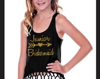 Junior Bridesmaid Shirt, Jr Bridesmaid Shirt, Junior Bridesmaid, Jr Bridesmaid, Junior Bridesmaid Bling, Flower Girl, Bachelorette Shirts