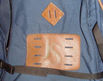 Vintage JANSPORT Backpack Leather Bottom JS Emblem