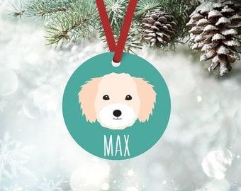 Coton de Tulear Christmas ornament, personalized custom name, custom Coton de Tulear Christmas ornament, Christmas gift