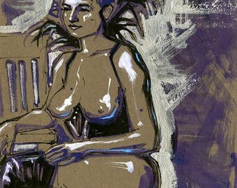 Burlesque Female Figure Study