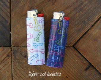 Dick Vinyl Waterproof Sticker for Lighter, wrap, skin, cover, smoke weed, pot, bic, 420