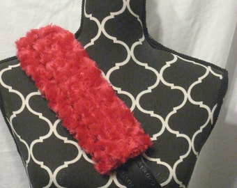 Car or Baby Car Seat belt covers made with red Minki