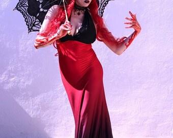 Gothic Dress - Mermaid Dress - Steampunk Gothic Dress