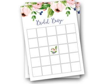Bridal Shower Bingo Download - Bridal Bingo Instant Download - Bridal Shower Games