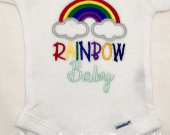 Rainbow Baby Onesie, Rainbow baby, Miracle Baby, Baby Shower Gift, Rainbow Baby BodySuit, Rainbow Miracle Baby, Ready to Ship