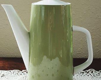 Mikasa Green & White Cera-Stone/CeraStone Pitcher Coffee/Tea Pot/Carafe/Server
