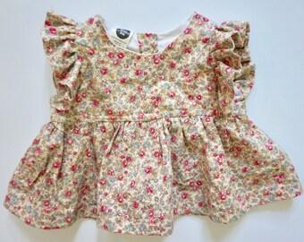 Summer Nora Top - Baby Cotton Top, Flutter sleeve Top,  Mix & Match - Playset