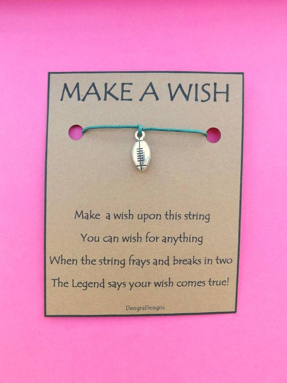 Rugby Ball Football Soccer Wish String