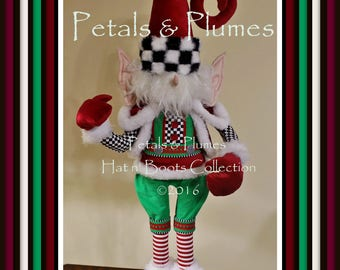 """PREORDER-2017 Christmas Delivery-Christmas Elf Character Stand -Petals & Plumes Original Design©-(LIMITED Avail of 2 Offered)38"""" Tall"""