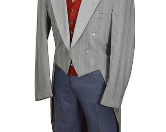 40 Long Snazzy Silver Gray Gentry Tuxedo Tails - Already Dry Cleaned