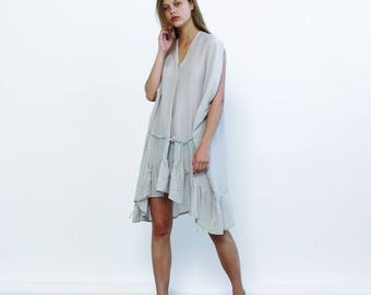 Summer Sale 30% off Galla dress - Light grey  ,Summer party dress ,