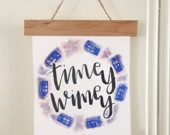 Doctor Who Timey Wimey Hanging Sign