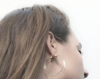 Lucite Hoop Earrings, Hoop Earrings, Avant Garde, Huge Earrings, Clear Lucite, Vintage Lucite, 80s Earrings, Clear Lucite Earrings