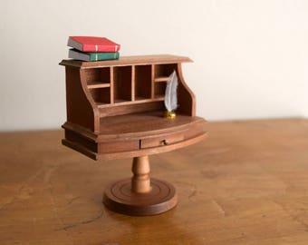 Vintage Wood Reevesline Dollhouse Desk - Miniatures, Faeries, Tiny Treasures