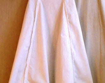 Vintage Christening Gown 1890s Victorian White Cotton With Lace Baby Dress
