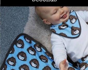 SECONDS - Blue Baby blanket - baby blanket - swaddle blanket - cot blanket - baby shower - pram blanket - stroller blanket - Hedghehog
